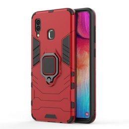 Funda combo resistente híbrida online-Para Samsung Galaxy A30 Case 2019 Loop Stand Rugged Combo Hybrid Armor Bracket Impact Holster cubierta para Samsung Galaxy A30