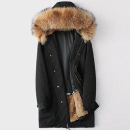 2019 sudadera con capucha de piel real Abrigos de piel de conejo para hombre chaquetas de piel real de invierno sudaderas con capucha parkas cálidas rompevientos ropa de abrigo abrigo más el tamaño M-4XL 5XL ropa rebajas sudadera con capucha de piel real