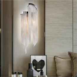 2019 led veranda licht leuchten Atlantis Aluminiumkette Wandleuchte Led Moderne Wandbeleuchtung Für Wohnzimmer Atlantis Wandlampen Gang Lampe Flur Veranda Lichter günstig led veranda licht leuchten