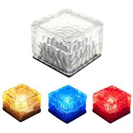 Luci di ponte quadrate online-NUOVO LED Luce sotterranea Lampada da tavolo Piazza Yard Luce a terra LED Glassato Brick Brick Ice Cube Path Illuminazione da giardino a incasso