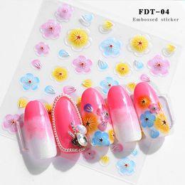 2019 flor gravura 5D Gravado Nails Sticker Flor Template Decalques Ferramenta DIY Manicure Decor Ferramentas @ ME88 desconto flor gravura