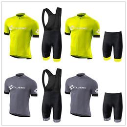 Fahrrad-shorts würfel online-2019 CUBE Summer Herren Radtrikot Set Kurzarm MTB Bike Trikots Fahrradbekleidung Wear (Bib) Shorts Ropa Ciclismo Mujer