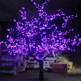 Luzes artificiais ao ar livre das árvores on-line-LEDs Outdoor LED Artificial flor de cerejeira Árvore Luz árvore de Natal Lâmpada 1248pcs 6 pés / 1,8 m Altura 110VAC / 220VAC Rainproof Drop Shipping