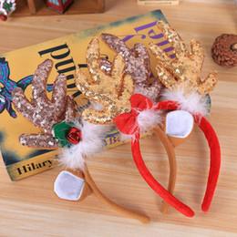 Rosa renna online-QIFU Elk Reindeer Antlers Natale Fascia Natale 2019 Ornamenti Regali Navidad Natal Noel Felice Anno Nuovo 2020