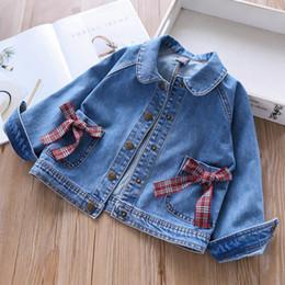e03b8e606a17e Enfants Vestes Filles Jeans Veste 2019 nouveau Mode Enfants Outwear doux Jeans  manteaux Filles Outwear enfants vêtements de créateurs vêtements pour  enfants ...