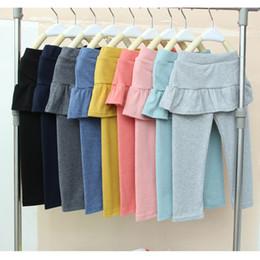 jupes lolita douces Promotion Printemps et automne doux style mignon leggings jupe pantalon filles bébé fille legging pantskirt slim stretch leggings pantalon B11