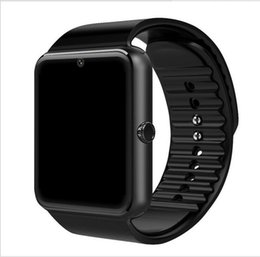 Смотреть сотовый телефон tf-карту онлайн-GT08 Smart Watch Синхронизация часов Поддержка Sim-карты TF Bluetooth Связь Android Мобильный телефон Сплав Часы Синхронизация SmartWatch
