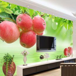decorazioni di frutta fresca Sconti Carta da parati autoadesiva su ordinazione Frutta fresca Grande Murale TV Sfondo muro dipinto Soggiorno Adesivi decorazione della casa per la parete