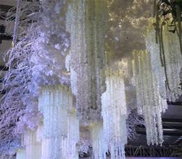 bouquet di nozze di fiori di glicine Sconti 100CM (39Inch) Lungo elegante fiore di seta artificiale glicine Vite rattan per centrotavola decorazioni di nozze Bouquet Garland Home Ornament