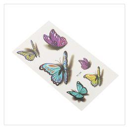 Canada Tatouages Temporaires 1 Feuille 3D Coloré Papillon Corps Art Femmes Sexy Imperméable Durable Non-toxique Transfert Autocollant Bonne Flexibilité Offre