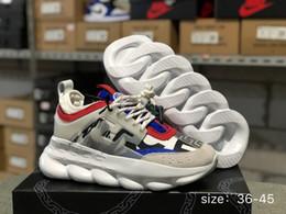 Argentina Chain Reaction Love Sneakers Sport Diseñador de moda de lujo Calzado casual Trainer Suela con eslabón con relieve liviana y bolsa para el polvo Suministro