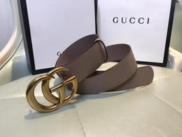 2019 ceinture en cuir marron large pour femme En 2018, nouvelle ceinture de designer en cuir boucle la ceinture des hommes de haute qualité, ceinture de la dame de la mode, vente en gros de la ceinture de cuir, boîte-cadeau, livraison gratuite!