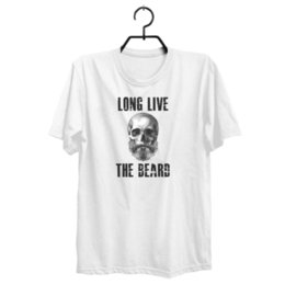 0377a19a9e14 Long Live The Beard Skull Skeleton T-shirt Free ShippingFunny free shipping  Unisex Casual Tshirt