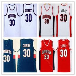 Uniformes escolares on-line-Homens High School de Stephen Curry 30 Charlotte Knights Jersey Davidson Wildcats Curry College Basketball Jerseys esportiva costurado