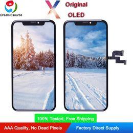 Affidabile schermo Assemblato Qaulity originale OLED per iPhone X completa Perfect Touch e display a colori il trasporto libero del DHL da