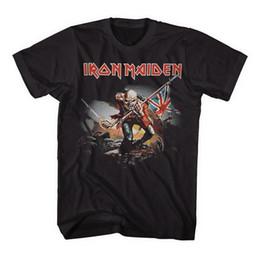 Marca licenciada on-line-Iron Maiden Trooper 2 Brand New oficialmente licenciado ShirtFunny frete grátis Unisex Casual