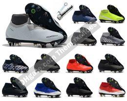 2019 zapatillas de fútbol 2019 Phantom Vision VSN Elite DF SG Nuevas luces Steel Spike Hombres Botines de fútbol de tobillo alto Zapatos de fútbol Tamaño US 6.5-11 zapatillas de fútbol baratos