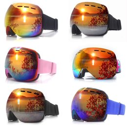 Livelli di sci Doppi vetri UV400 Anti-fog Occhiali da sci da neve Sci Snowboard Motocross Maschere occhiali o Eyewear da tint occhiali da sole fornitori