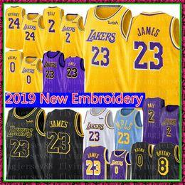 2019 basketball 14 23 LeBron James Jersey Université NCAA Lonzo # Ball Kyle 0 Kuzma Brandon 14 Ingram Broderie Basketball Maillots Taille S-XXL