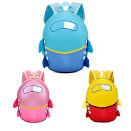 Disegno del sacchetto di scuola dei ragazzi online-2019 3D Carino aerei design Zaino per bambini sacchetti di scuola per Zaini dei bambini dei ragazzi delle ragazze del fumetto a forma di