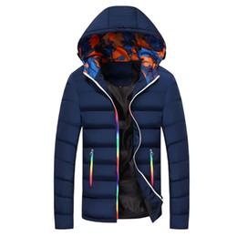 13c750b07b948 Çin Moda Kalın Sıcak Kış Parkas Erkekler Fit Slim Rahat Pamuk Ceket Uzun  Kollu Katı Kore