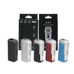 Tamanho da bateria on-line-100% Autêntico Yocan Uni Mod Box 650 mah Pré-aqueça Bateria Kit Adequado Para todo o Tamanho do Cartucho 510 Anel Magnético Pré-aquecimento Baterias Mods