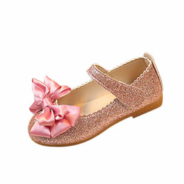 shaunyging # 5011 Enfants Mode Fille Princesse Bowknot Danse Nubuck Chaussures en Cuir ? partir de fabricateur