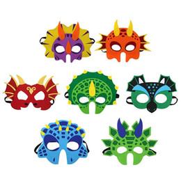 Animale a tema online-Dinosaur Party Cartoon Maschere Cute Animal Decorative Accessori per feste Bomboniere Maschera per tema Party Masquerade Halloween Kids C21