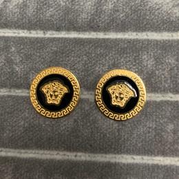Jóias de titânio on-line-2019 Deluxe homens mulheres Titanium amor medusa stud brincos de prata de ouro jóias finas para as Mulheres meninas fine jewelry Para Amante esposa presente Bijoux