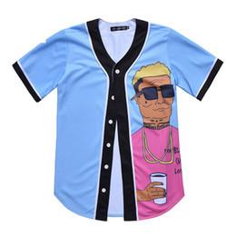 2019 camicie online Moda Uomo Maglia da baseball da uomo Sport Jersey di buona qualità con bottone di vendita online 12 camicie online economici