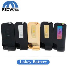2019 mods batería construida La batería Lokey más nueva 350mAh LO Key Mod Voltaje variable Batería 510 Rosca con cargador USB incorporado para cartuchos de aceite grueso rebajas mods batería construida