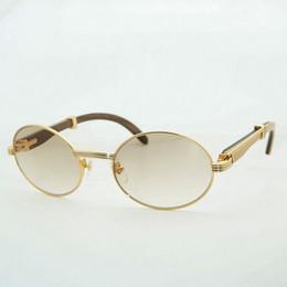 colore di occhiali da sole di legno Sconti Occhiali da sole a doppio colore Occhiali da sole in legno Carter Occhiali da sole Vintag Retro Occhiali da sole per club party Outdoor Accessori rotondi per eyeglasse