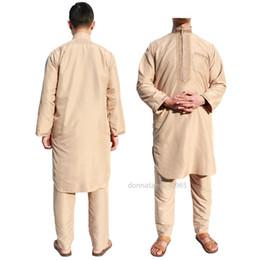 2019 bordados de cauda vermelha bordados Árabe Oriente Médio Homem Robe Terno Abaya Vestuário Islâmico Roupas Africanas Abayas Muçulmanos Vestidos Tamanho Grande Vestido Noite Dubai Homens DHL