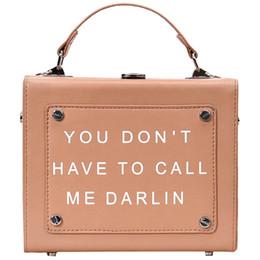 17922f4cbd871 2019 vintage design damen ledertasche Vintage Box Design Buchstaben Pu  Leder Mode Lässig Damen Handtasche Schultertasche