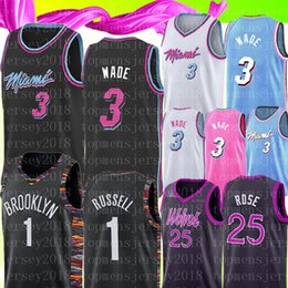 Venta al por mayor online-Universidad Dwyane NCAA Wade Jersey D'Angelo # Russell Derrick # Rose bordado camisetas de baloncesto al por mayor barato 1 # 25