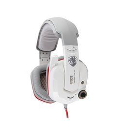 Kopfhörer 7.1 vibration online-SOMIC G909 Stereo 7.1 Virtual Surround Sound Gaming Headset Kopfhörer mit Noise Cancelling USB-Stecker Vibration Kopfhörer für PC-Spiele