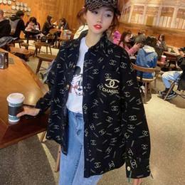 плюс размер органзы tops Скидка Новый Seiko монограмма блузки весна 2020 с длинными рукавами промывают джинсовую куртку Б.Ф. случайные свободные блузок доступны в большем количестве цветов