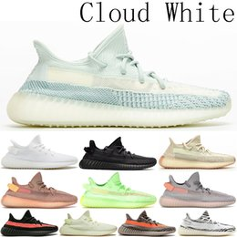 Высокое качество Kanye West Cloud Белый Citrin Женские спортивные Глина Пиратский Черный Статический Крем дизайнер мужские кроссовки Кроссовки Зебра US5-13 от