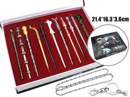 11PCS / Film Set Harri Potter Hermione Dumbledore Sirius Voldemort Fleur Baguettes Magiques Cosplay collier keychain Cadeaux Boîte Emballage ? partir de fabricateur