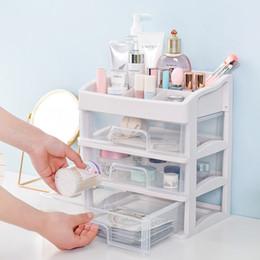 maquiagem gaveta Desconto Maquiagem Plastic Organizador Cosmetic gaveta maquiagem caixa de armazenamento Container prego do caixão Titular Ferramentas Desktop do Sundry armazenamento caso Bead