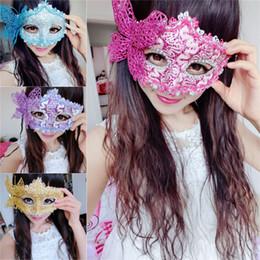 Mädchen schmetterling maske online-2019 neue Frauen-Mädchen Elegante Prom Schmetterlings-Masken Venedig Prinzessin Cosplay Masken-Tanz-Performance Requisiten Halloween Party Supplies