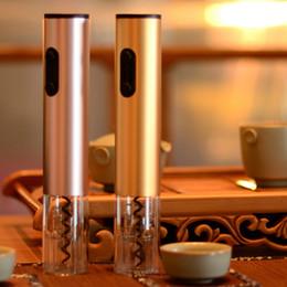 Aspirateur de bouteille de vin vide en Ligne-Kit d'ouvre-bouteille automatique multi couleur tire-bouchon Ouvre-vin électrique sans fil avec coupe-feuille et bouchon de vide par DHL