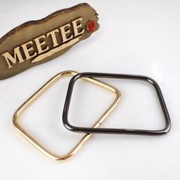D Anello Fibbia Anelli di metallo oro chiaro Cintura Fibbia Borsa Borsa a mano Maniglie Borsa da cucito fai da te Accessori Parti Articoli in pelle Artigianato F1-57 da