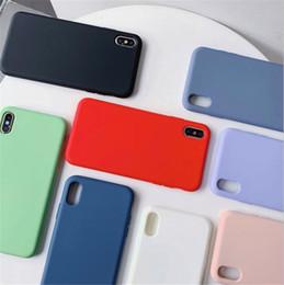 2019 dulces de manzana Funda de lujo para iPhone iPhone XS XS X 8 X 6 Plus 7 6 6S 5 5S Funda de lujo con silicona para teléfono de color dulce con embalaje al por menor dulces de manzana baratos