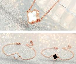 Argentina 18K oro rosa brazalete pulsera pendientes anillo colgante collar conjunto de lujo trébol encanto joyería encantadora para mujeres regalo de Navidad de San Valentín Suministro
