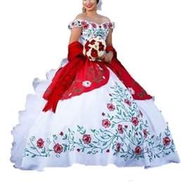 grânulos de bordado de baile de quinceañera Desconto Luxo Bordado floral Vestido de Baile Vestidos Quinceanera 2019 Com Contas Doce 16 Prom Pageant Debutante Vestido De Festa Vestido