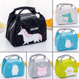 urlaub kosmetische beutel großhandel Rabatt Einhorn Tragbare Insulated Lunch Bag Box Picknick Tote Cooler
