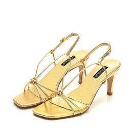 Classique Cowskin femmes sandales taille 7 Talons Hauts En Cuir Verni Bout Pointu Robe Chaussures Élastique bande Bout Carré Bouche De Mariage Chaussures ? partir de fabricateur