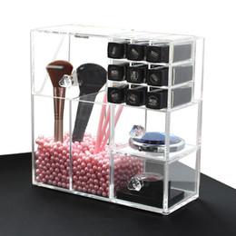 estilos de unhas de acrílico Desconto Acrílico Maquiagem Organizador Multi-estilo Caixa de Prego Polonês Titular Rack de Exibição Cosméticos Gabinete Cuidados Com A Pele Batom Caso