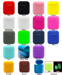 Argentina 20 colores para Apple Airpods Funda de silicona Soft TPU Funda protectora ultra delgada Funda de manga para Air pods Auricular Suministro